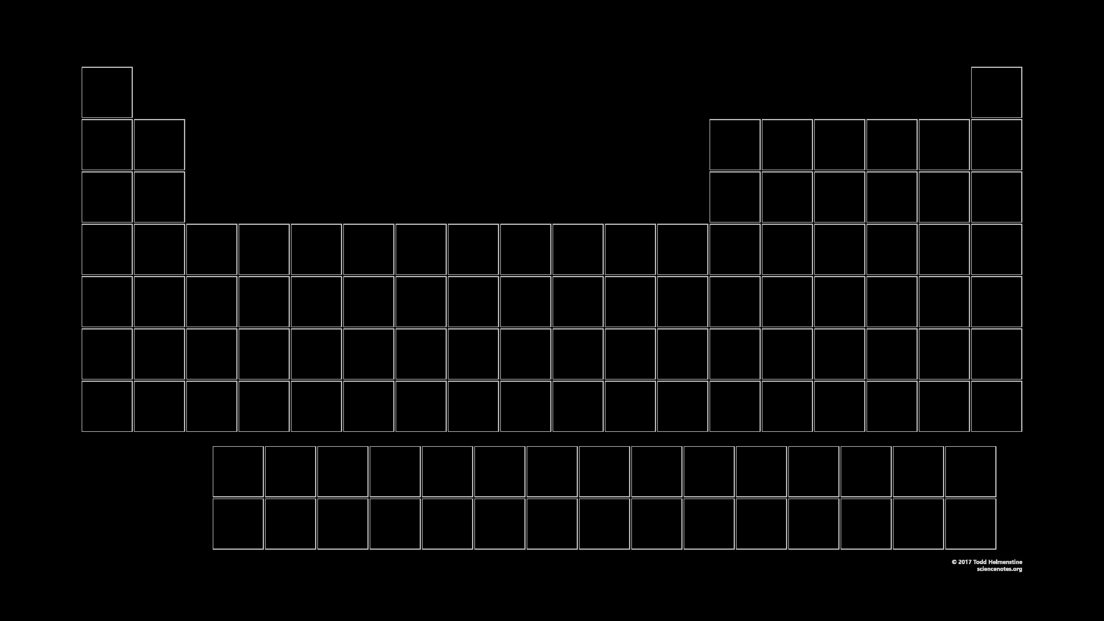 Printable Periodic Table Black and White