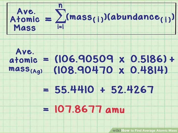 How to Calculate Atomic Mass of Isotopes