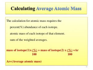 Method to Find Average Atomic Mass