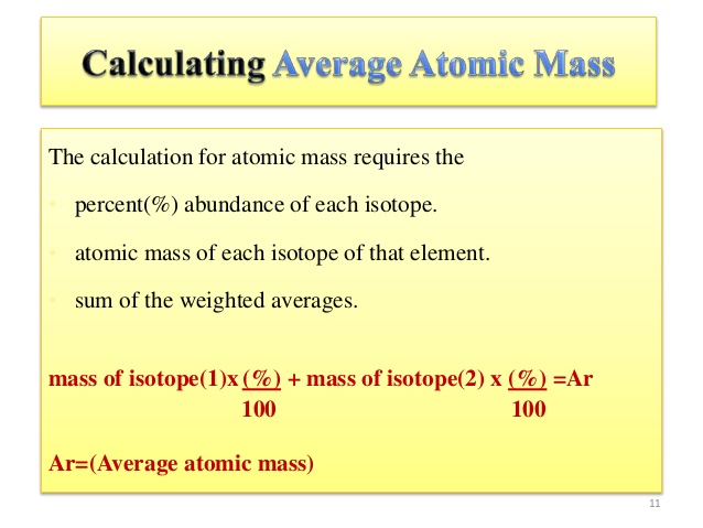 Way to find atomic mass of elements dynamic periodic table of method to find average atomic mass urtaz Gallery