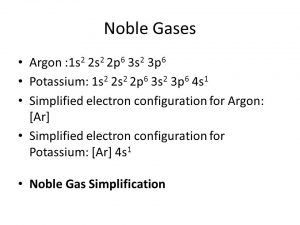 What Is The Electron Configuration of Argon