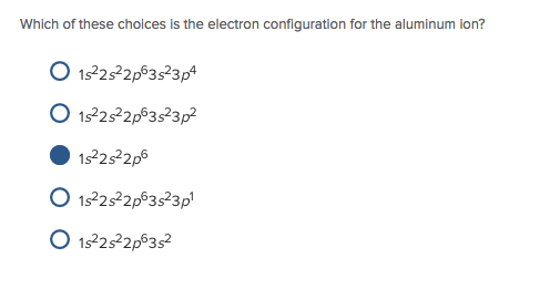Electron Configuration For Aluminium ion