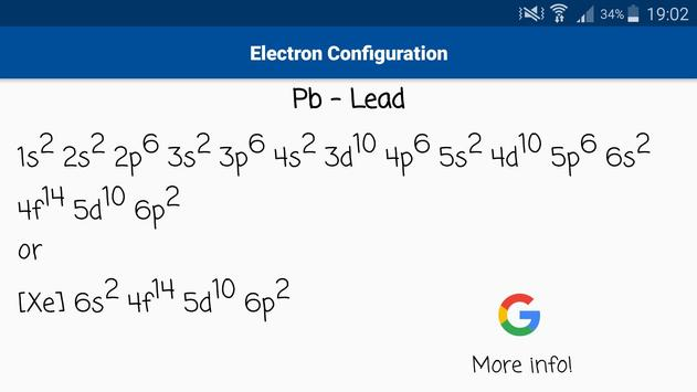 Electron Configuration For Lead