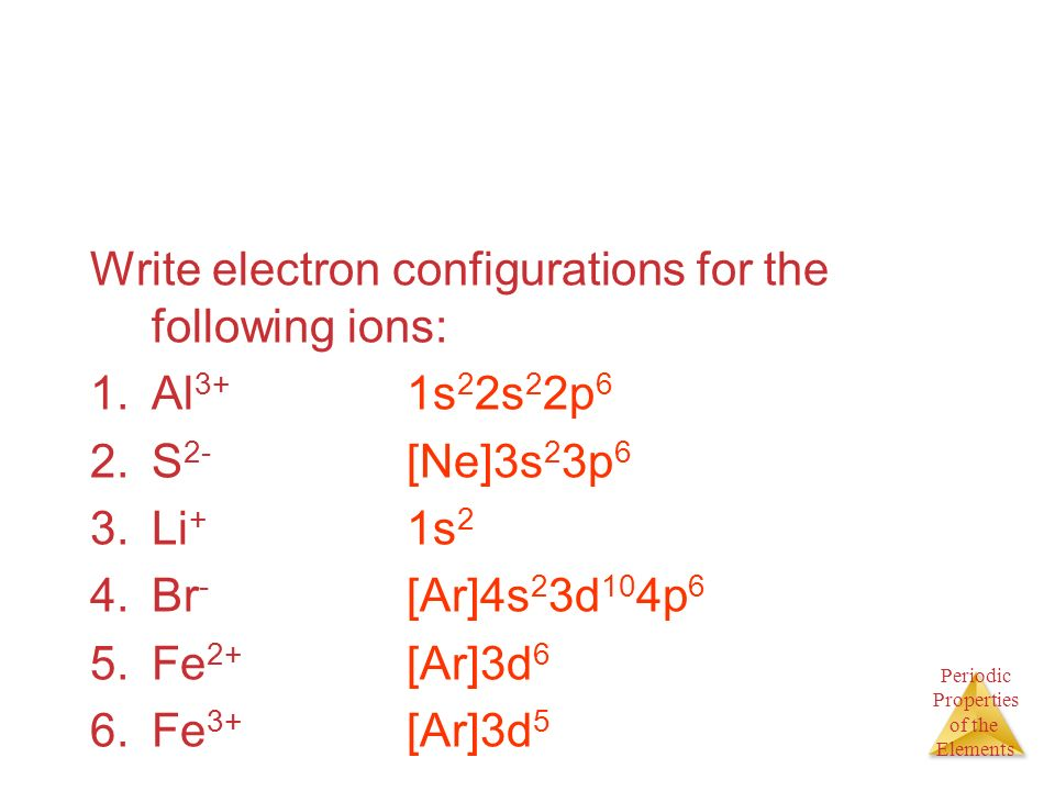 Electron Configuration For al 3+