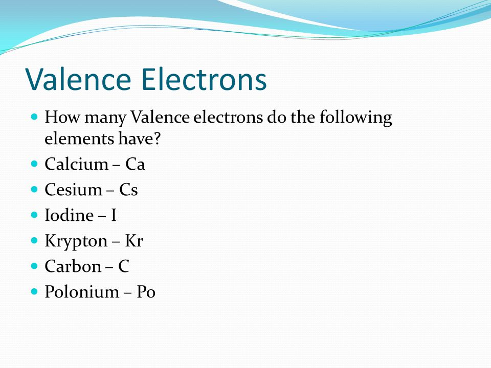 How Many Valence Electrons Does Iodine Have