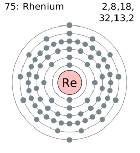 Rhenium Number of Valence Electrons