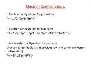 How Many Valence Electrons does Platinum have