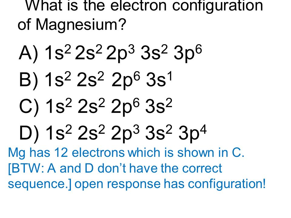 What is the Electron Configuration of Magnesium