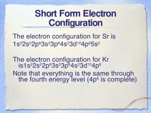 What is the Electron Configuration of Strontium
