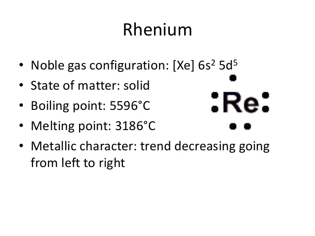 How Many Valence Electrons Does Rhenium Have