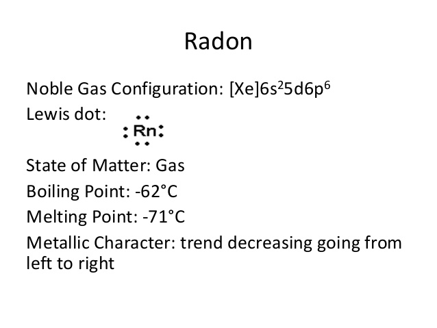 How Many Valence Electrons Does Radon Have