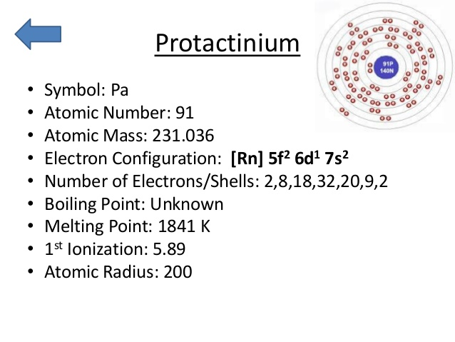 How Many Valence Electrons Does Protactinium have
