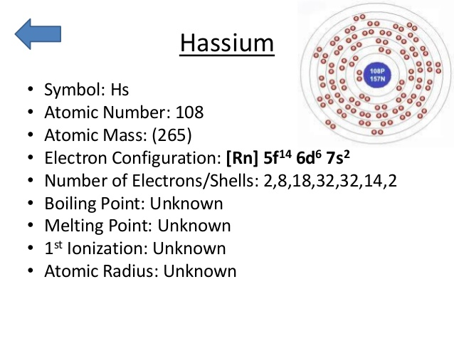 How Many Valence Electrons Does Hassium Have