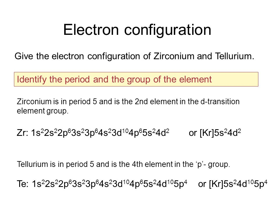How To Find The Electron Configuration For Tellurium Dynamic